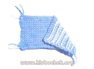 Тунисское вязание - лицевое вязание