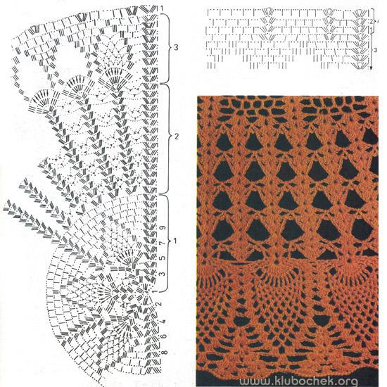 Схема и образец узора