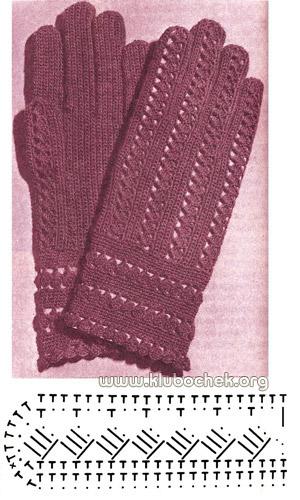 Вертикальная вязка перчаток