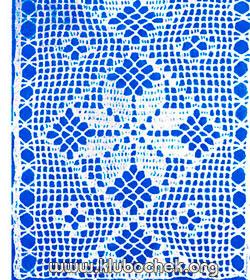 Вертикальная ажурная кайма - Образец ажурная вязка
