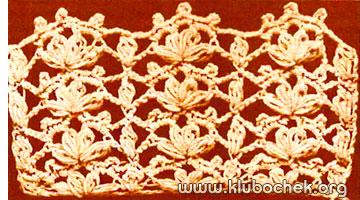 Образец ажурная вязка