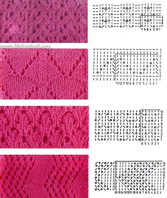 Схемы вязания ажурных платков