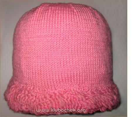 Теплая шапка для девочки с вязанной бахромой (7-9 лет) - www.klubochek.org