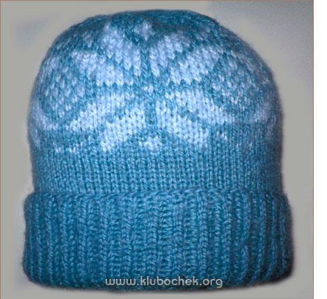 связать шапку спицами круговым вязанием